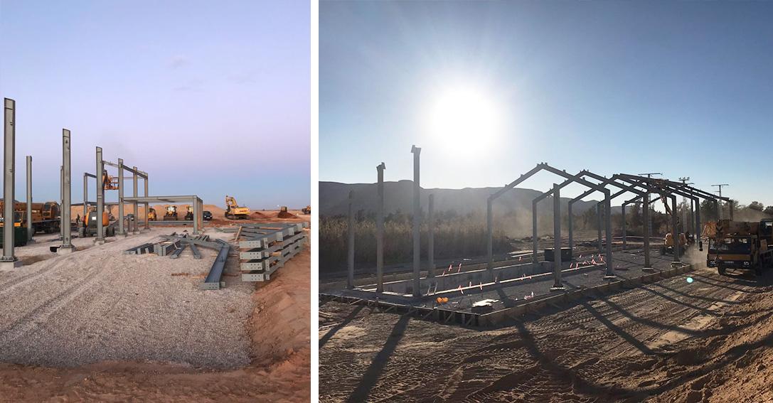 Hangar y estación de bombeo Wilaya Argelia Lymsa