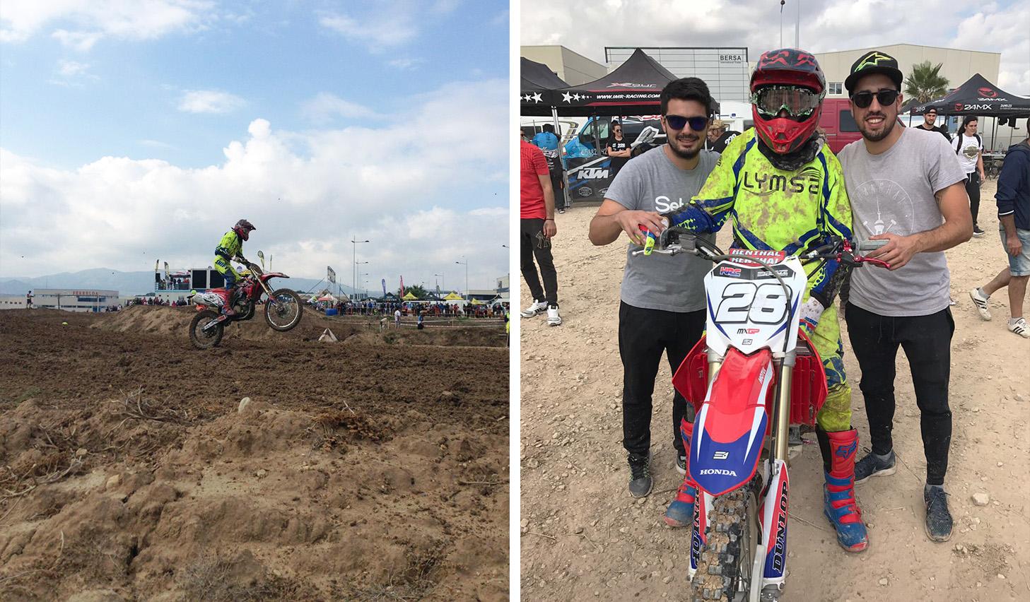 Motocross finca Lacy Elda Héctor Lymsa